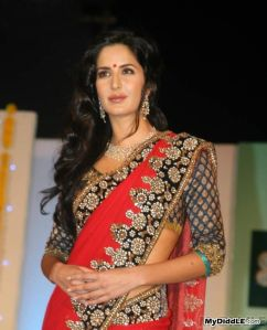 katrina kaif looking gorgeous in red sexy Saree photos