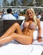 Heidi Montag shows off her new beach body in a self-designed bikini at