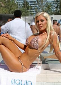 Heidi Montag shows off her new beach body in a self-designed bikini at