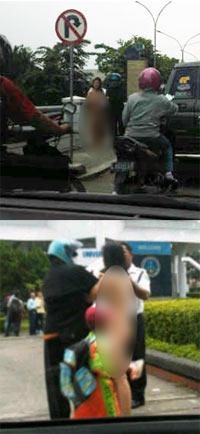 Foto Mahasiswa perempuan telanjang di depan Uk Petra Surabaya